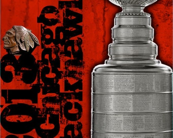 Salute to 2013 Chicago Blackhawks Champions on Canvas