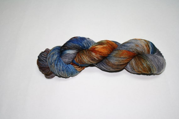 Ready to Ship - Gear Head Hand Dyed Sock Yarn - Tough Sock