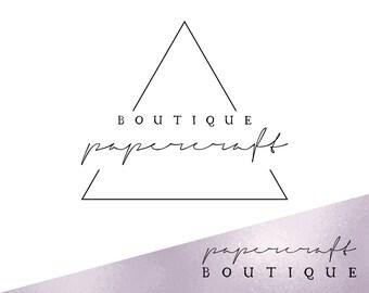 Triangle logo design custom, Triangle premade logo design, Logo photography, Logo blog, Banding package, Rosegold logo, Logo watermark