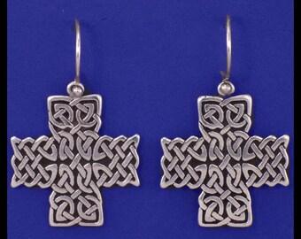 Celtic- St. John Cross- Earrings- Sterling Silver