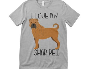 I Love My Shar Pei Tee T.Shirt