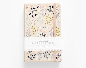 Floral Dot Grid notebook     Bullet Journal     Bujo - Floral Pattern     Goal Planner     Dot Grid A5