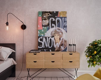 Wall art collage canvas print image - Deep Winter
