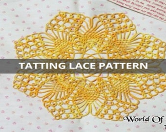 Tatting Lace Pattern:) Mini Pineapple Doily/Witch_JiYoung