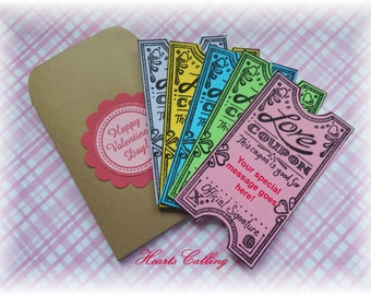LOVE Coupons - 5 Tickets - in an  Envelope (1)