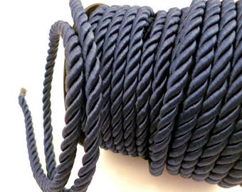6 mm Navy Blue Braided  Cord_PP01242057468_ BRAIDED/ Navy Cord_of 6 mm_Sales by yards