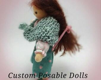 Custom dollhouse dolls, bendy dolls, posable dolls