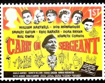 Carry On Sergeant -William Hartnell -Bob Monkhouse -Handmade Framed Postage Stamp Art 17016
