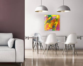 Colorful painting. ORIGINAL Acrylic painting, Abstract art, Canvas Painting, Handmade, home decor, modern art