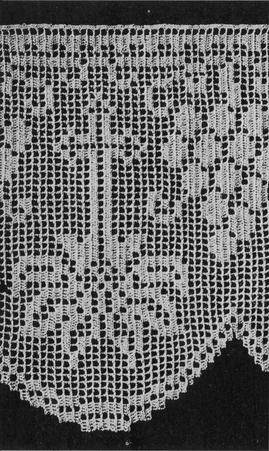 1940er Jahre Kirche Spitze und Embleme Filet Crochet Muster EBook ...