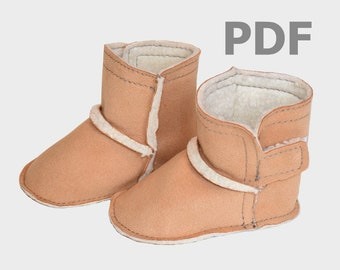 baby bootie sewing pattern soft sole PDF shoe pattern and tutorial instant download toddler shoe pattern