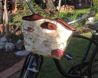 Watercolor Boats Bicycle bag