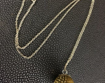 Womans natural thistle silver necklace