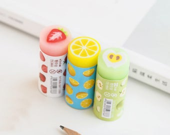 Cute Fruit Eraser, Kawaii Eraser, Pink Eraser, Yellow Eraser, Green Eraser, Fruit Eraser, School Eraser, Kids Eraser, Cute Kids Eraser