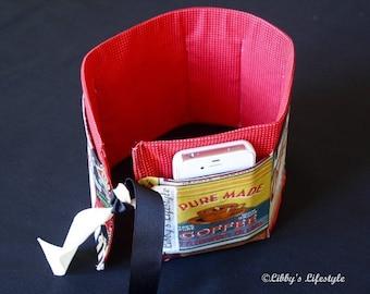 Coffee Lover's Purse insert - Handbag organiser insert - Purse organiser insert - Handmade Bag insert - Bag organiser pockets.