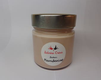 Vegetable soy wax Tangerine scented candle.