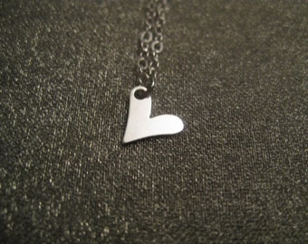 Sterling Silver Teeny Heart Necklace