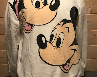 Vintage 1990's Mickey Mouse and Minnie 50/50 Sweatshirt T-Shirt