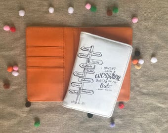 Been everywhere travel illustrated passport cover / passport case