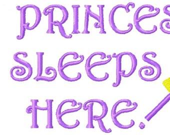 A Princess Sleeps  Words