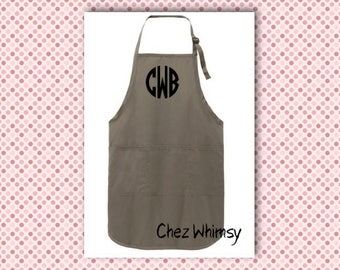 Personalized apron, Custom name apron with pockets, Gift for chef, Birthday Gift, Teacher holiday gift, Apron with Bow
