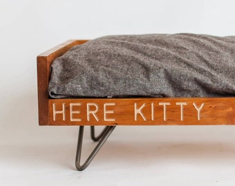 Customized Cat Bed | Cat Bed | Maple Cat Bed | Washable Cat Bed | Wooden Cat Bed | Cat Furniture | Modern Cat Furniture | Elevated Cat Bed