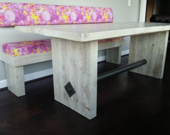 Modern Industrial Trestle Table