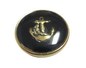 Dark Navy Toned Nautical Anchor Magnet