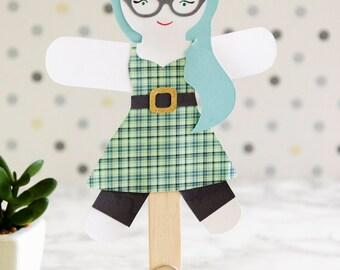 Papier Rockabilly Doll Puppe Craft Kits für Kinder und Erwachsene Set 30