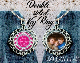 SALE! Double-Sided Mom Keychain - Photo Key Chain - Personalized Key Chain - Gift for Mom-  - Cyber Monday