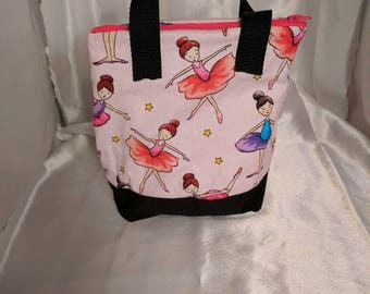 Ballerina  Insulated Zip-up Lunch bag  KID SIZED - Ready to Ship