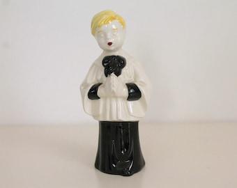 Vintage Ceramic Choir Boy Figurine 1950s
