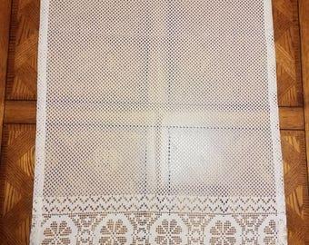2 Ivory Lace Window Panels