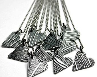 Tree Bark Hearts Valentine's Day Gift for Her Heart Necklace True Love Original Design
