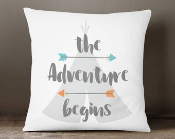 Kids pillow, Tribal pillow, Kids room decor, Tribal room decor, Adventure, Kids throw pillow, Tribal kids room, Boys pillow, Boys room decor