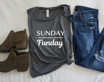 Sunday Funday - Women's Flowy Scoop Neck Tank
