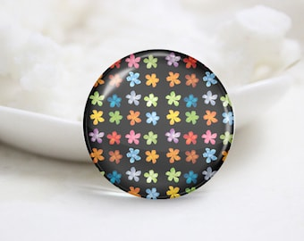 Round Glass Photo Cabochons Photo Glass Cabs-Tiling (P3213)