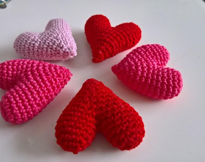 Crochet Heart Pattern, Valentine's Day, Love, Anniversary, Gift, Under 5, Decoration