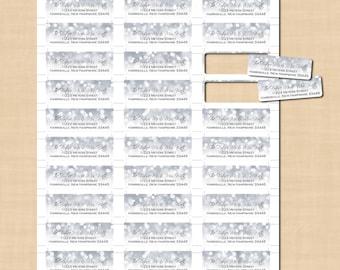 Avery address label etsy silver shimmer return address labels 34x2 14 text saigontimesfo