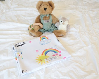 Rainbow Baby Blanket - Gift for Rainbow Baby - After Miscarriage - Baby Shower Gift - Photo Prop - Gender Neutral - Swaddle - Personalized
