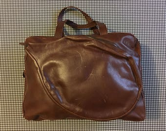1970's, leather, tennis/gym bag