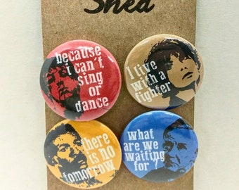Rocky - boxing - stallone - creed - inspirational quotes - Rocky Movies - 4 pin button badge set