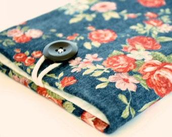 iPhone Pouch, Floral iPhone 7, 8 X Sleeve Pouch, Cell Phone, Custom Size, iPhone 7+, iPhone 6S Plus, Women Padded Sleeve - Vintage Flowers