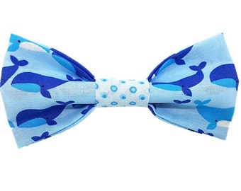 Under the Sea dog bow-tie|Fun whale and bubble ocean design|Gifts for dogs