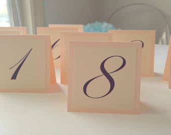 Small Table Numbers, Wedding Table Number, Tented Table Numbers,  Gold Table Numbers, Elegant Table Number Wedding Decor, Layered Number