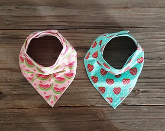 Baby Bibs for Girl - Bandana Bibs - Toddler Bibs - Newborn Bibs - Drool Bib - Dribble Bib - Handmade Bib – Baby Bib Set - Baby Gift Set