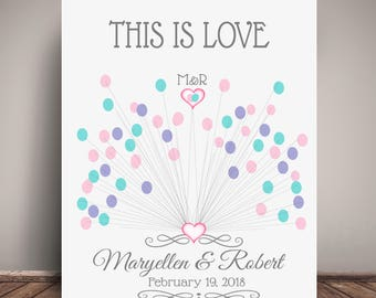 Wedding Guest Book Alternative - Thumbprint GuestBook - Sparkler Firework Wedding - Printed On Premium Fine Art Paper