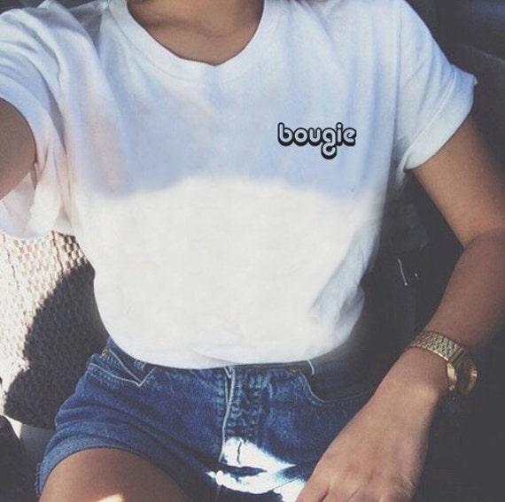 Bougie Shirt   Boujee Shirt, Aesthetic Tumblr T-shirt, Bougie Girl, Cute Graphic  Tee, Ultra Soft Women's White Tee, Graphic T-Shirt USA Made