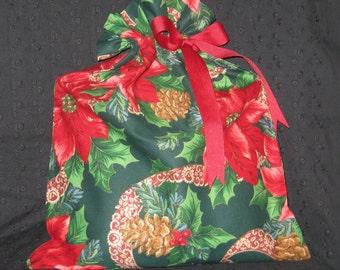 Poinsettia Gift Bag Large