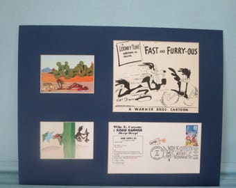 Wily the Coyote & the Road Runner and the First Day Cover of their own stamp
